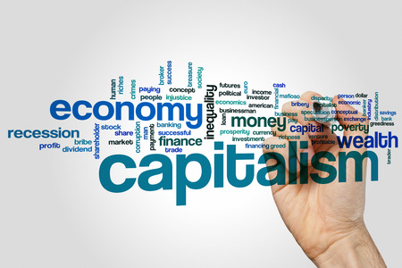 capitalism: Capitalism word cloud concept Stock Photo