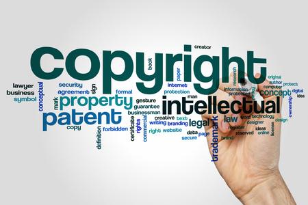 copyright: Copyright word cloud
