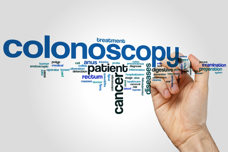 colonoscopy: Colonoscopy word cloud concept
