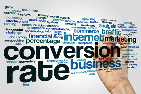 transactional: Conversion rate concept word cloud background Stock Photo