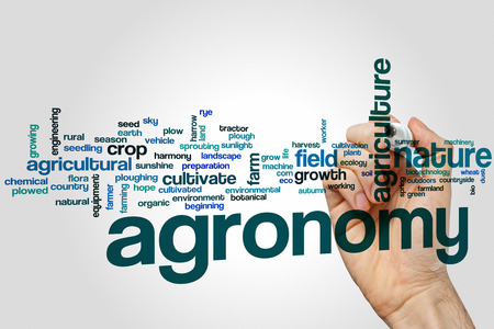 Agronomy word cloud concept Stock Photo
