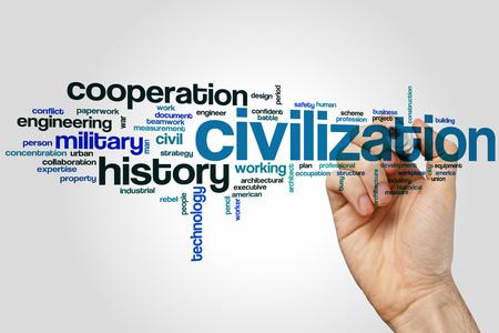 civilization: Civilization word cloud concept