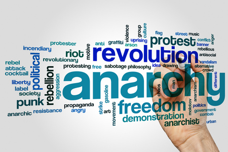 anarchism: Anarchy word cloud concept