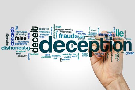deception: Deception word cloud concept