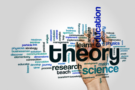theory: Theory concept word cloud background