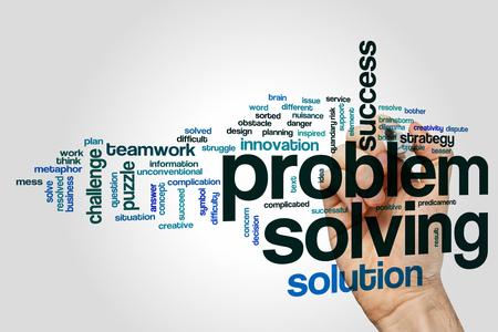 in problem: Problem solving word cloud concept