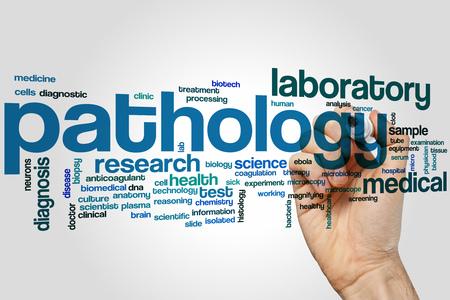 biopsia: Patología concepto de nube de palabras
