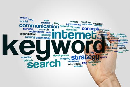 keyword: Keyword concept word cloud background