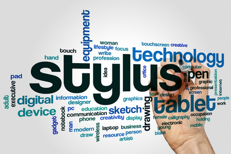 stylus: Stylus word cloud Stock Photo