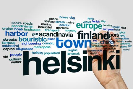 helsinki: Helsinki word cloud concept Stock Photo
