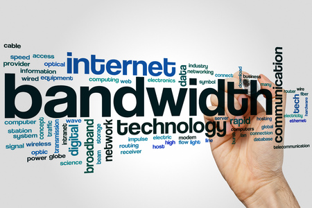 Bandwidth word cloud concept