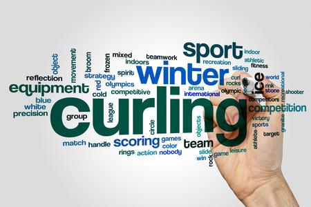 Curling word cloud