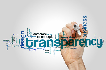 Transparency concept word cloud background Stock Photo