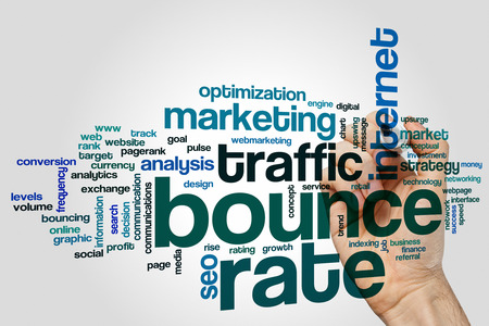 Bounce rate concept word cloud background