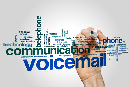 voicemail: Voicemail word cloud Stock Photo