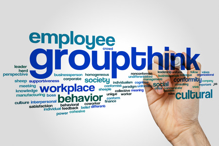 individualism: Groupthink concept word cloud background