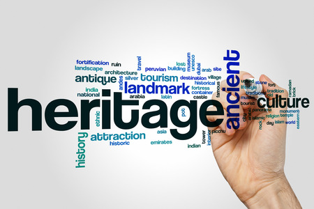 heritage: Heritage word cloud Stock Photo