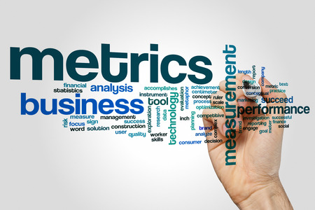 metrics: Metrics word cloud Stock Photo