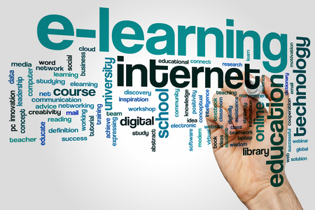 Elearning concept word cloud background