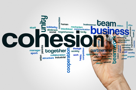 cohesion: Cohesion concept word cloud background