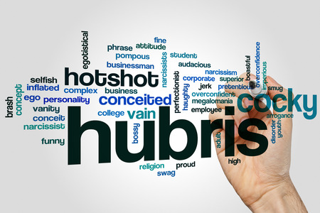 audacious: Hubris concept word cloud background