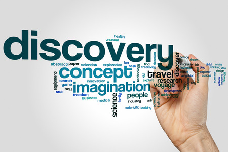 discovery: Discovery word cloud concept