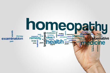 homeopathy: Homeopathy word cloud concept