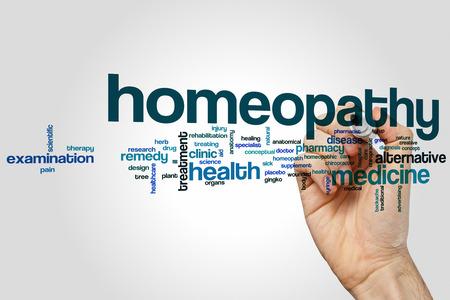 homeopatía: Palabra homeopatía concepto de nube Foto de archivo