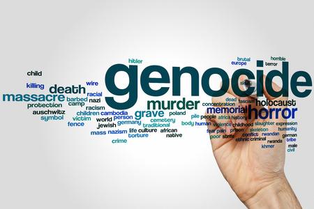 genocide: Genocide word cloud concept
