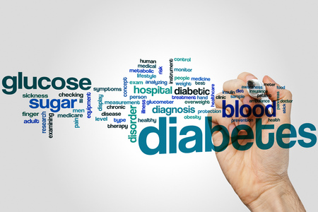 preventing: Diabetes word cloud concept Stock Photo