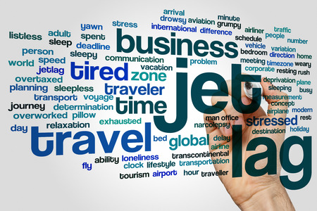 timezone: Jet lag concept word cloud background Stock Photo