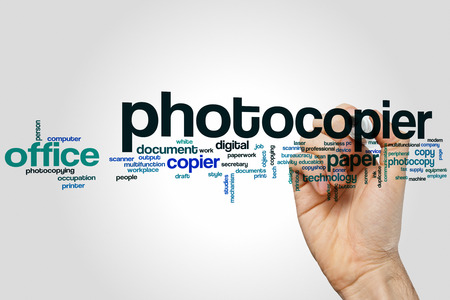 fotocopiadora: Fotocopiadora concepto de nube de palabras