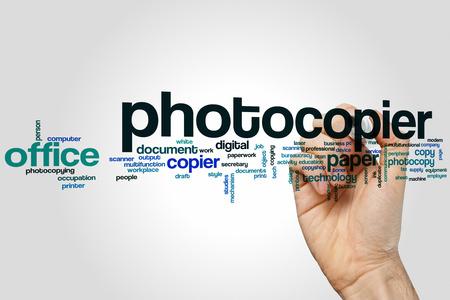 photocopier: Photocopier word cloud concept