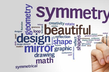 symmetry: Beautiful symmetry concept word cloud background Stock Photo