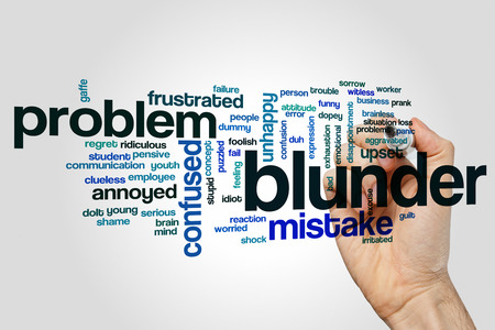 aggravated: Blunder word cloud