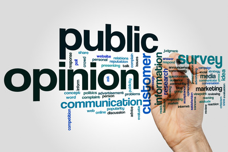 opinion: Public opinion concept word cloud background