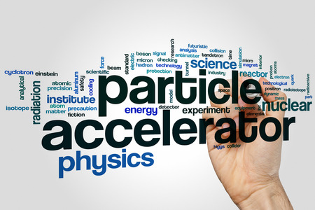 accelerator: Particle accelerator word cloud concept