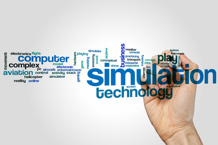 Simulation concept word cloud background