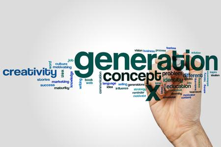 Generation x word cloud concept Stock Photo