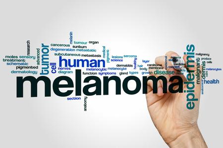 melanoma: Melanoma word cloud concept