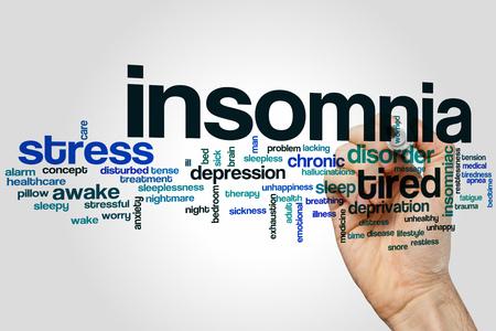 insomniac: Insomnia word cloud concept
