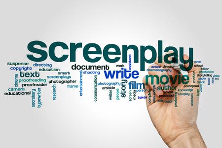 screenplay: Screenplay word cloud concept