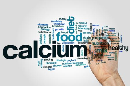 calcium: Calcium concept word cloud background