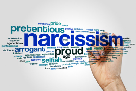 Narcissism concept word cloud background
