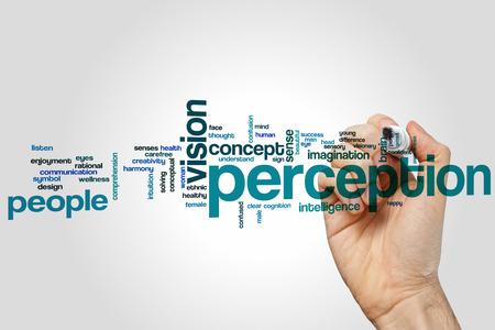percepción: Percepción concepto de nube de palabras
