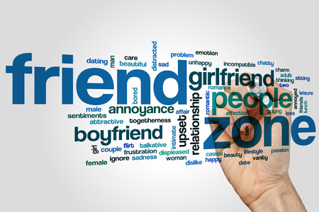chatty: Friend zone concept word cloud background Stock Photo