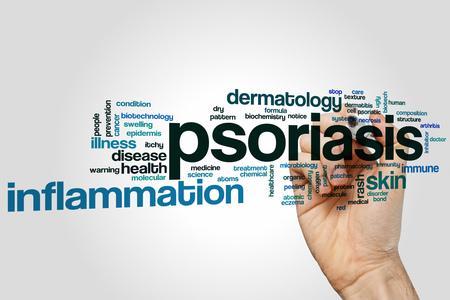 psoriasis: Psoriasis word cloud concept Stock Photo