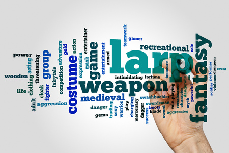 swashbuckler: LARP concept word cloud background