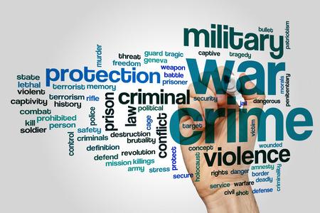 crime: War crime concept word cloud background