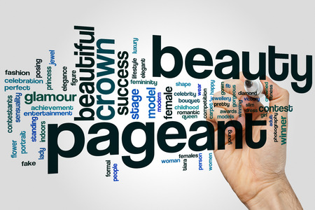 pageant: Beauty pageant word cloud concept Stock Photo